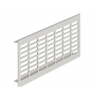ventilation grille, 250x102mm,	Alu silver,
