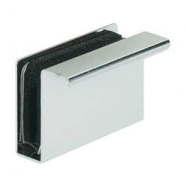 Counterpart with handle, for magnetic push-lock glass door, height 23 mm